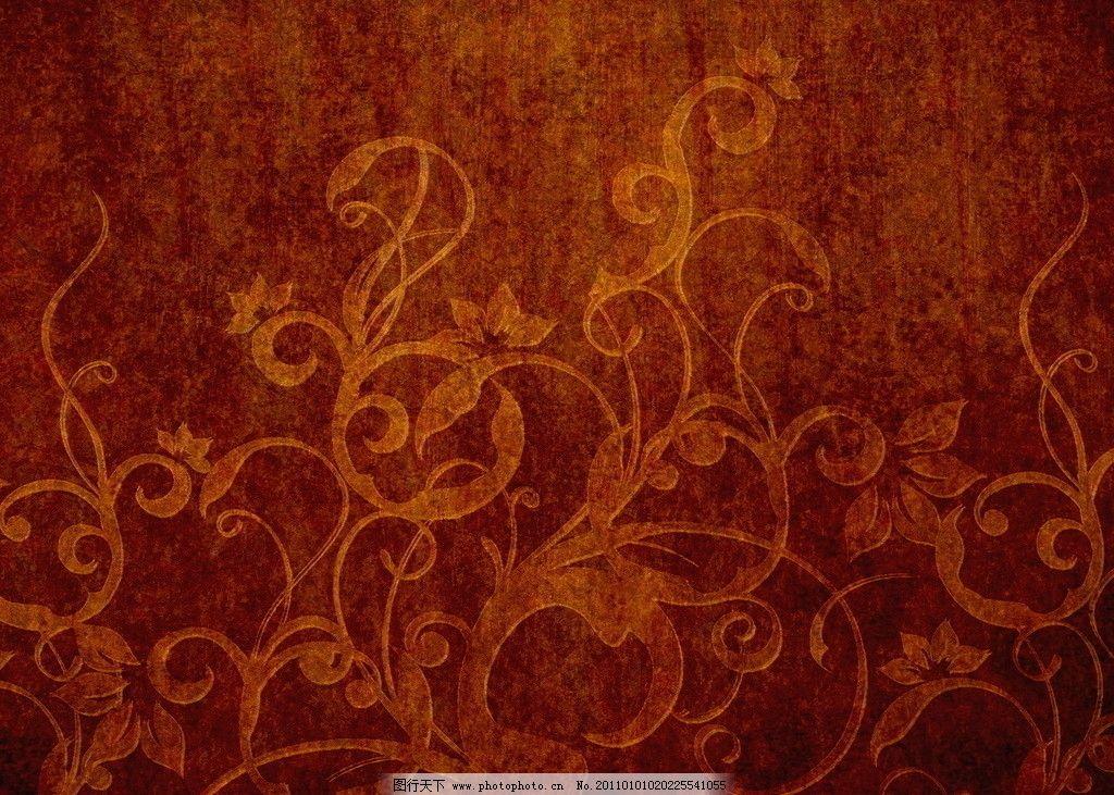 欧式暖色壁纸贴图素材