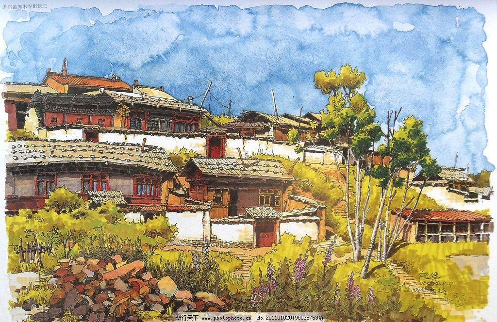 夏克梁手绘 钢笔 马克笔 钢笔风景画 线条 风景画 手绘 建筑手绘 手绘