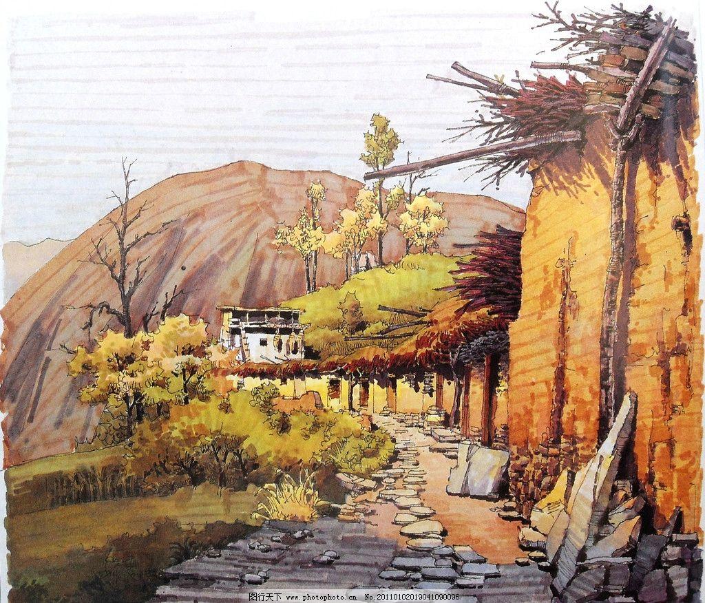 夏克梁手绘 夏克梁 钢笔 马克笔 钢笔风景画 线条 风景画 手绘 建筑