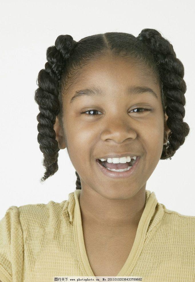 快乐儿童 黑人小女孩 黑人儿童 微笑 笑脸 外国小孩 国外小孩
