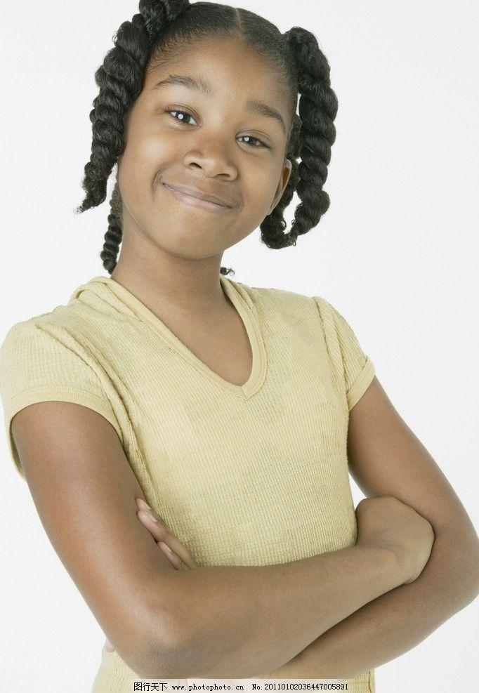 黑人小女孩 快乐儿童 黑人儿童 微笑 笑脸 外国小孩 国外小孩