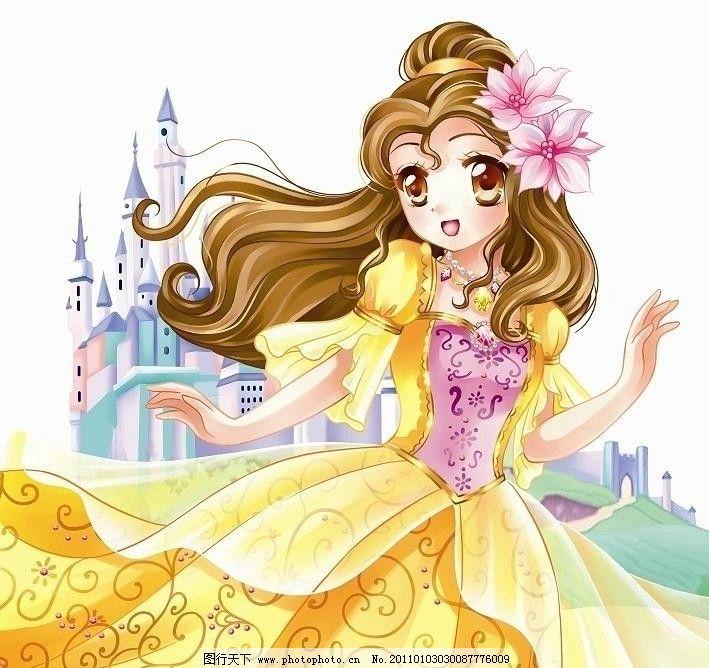 卡通公主城堡图片