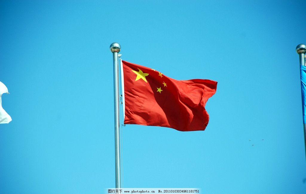 星红旗 五星红旗 高清 飘扬的五星红旗 国旗 一排排国旗 其他