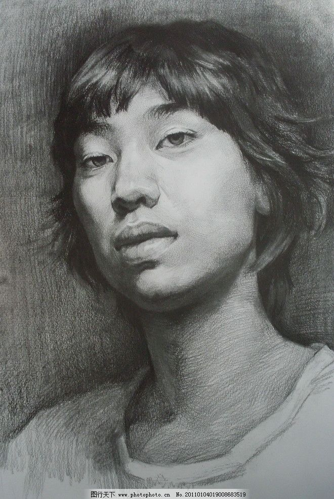素描头像 素描人像 头像素描      素描 绘画 手绘 男人 人 中国美术