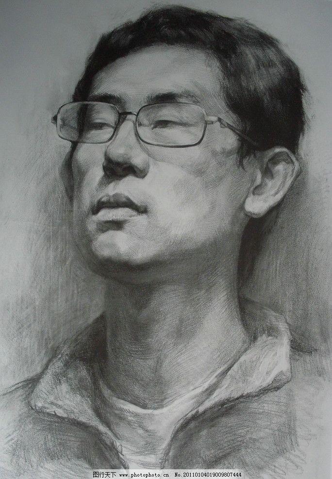 中国美术学院 教师作品 男青年 头像作品 人物 人像 人头像 高考素描