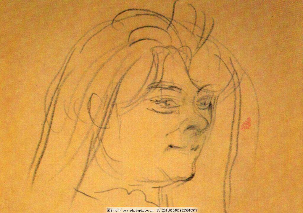 经典素描 头像素描 素描      肖像 人物 老外 线描 线稿 线条 人头像