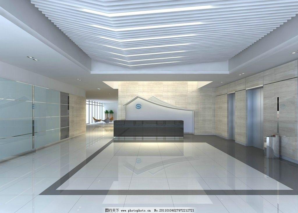 电梯厅效果图 电梯厅 前台 办公楼效果图 苏州 概念设计 门厅效果图