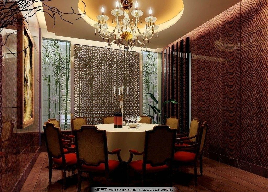 餐厅包间图片_室内设计