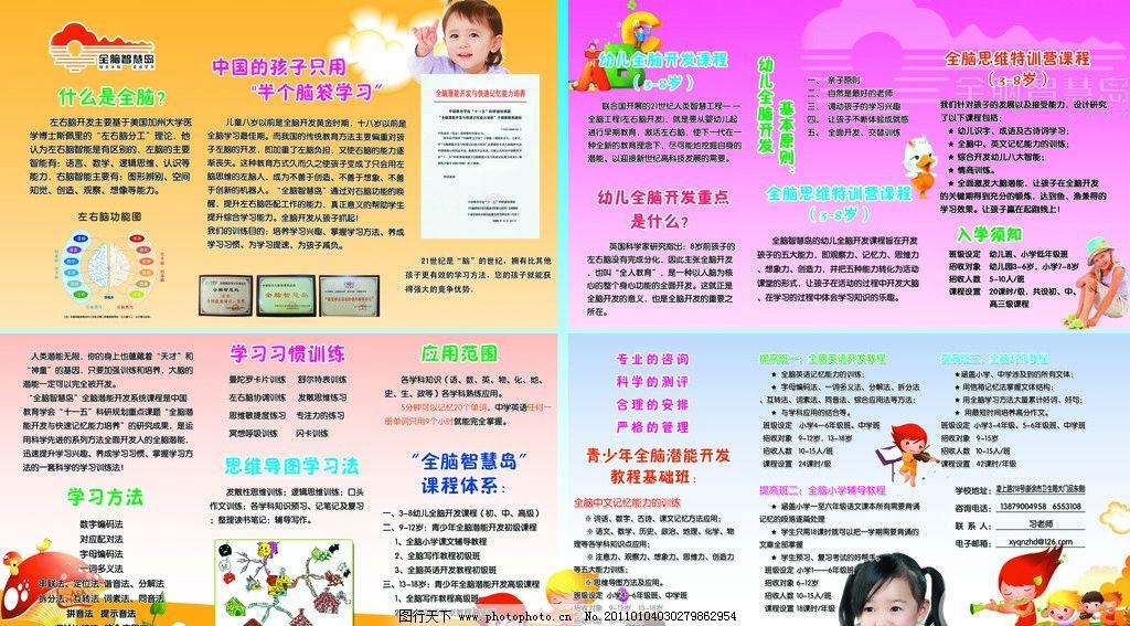 幼儿园展板 卡通abc 全脑智慧岛标志 卡通人物 草地 白云 学生 小学生