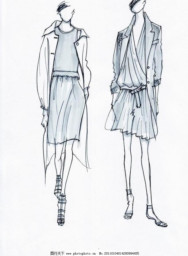 时装效果图 服装效果图        设计稿 服装设计稿 服装画 手绘时装画