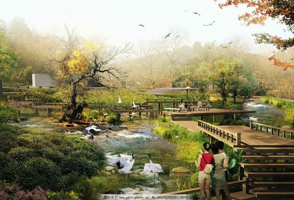 水上森林区        环境 环境设计 设计 室外设计 花草 森林区 夜景