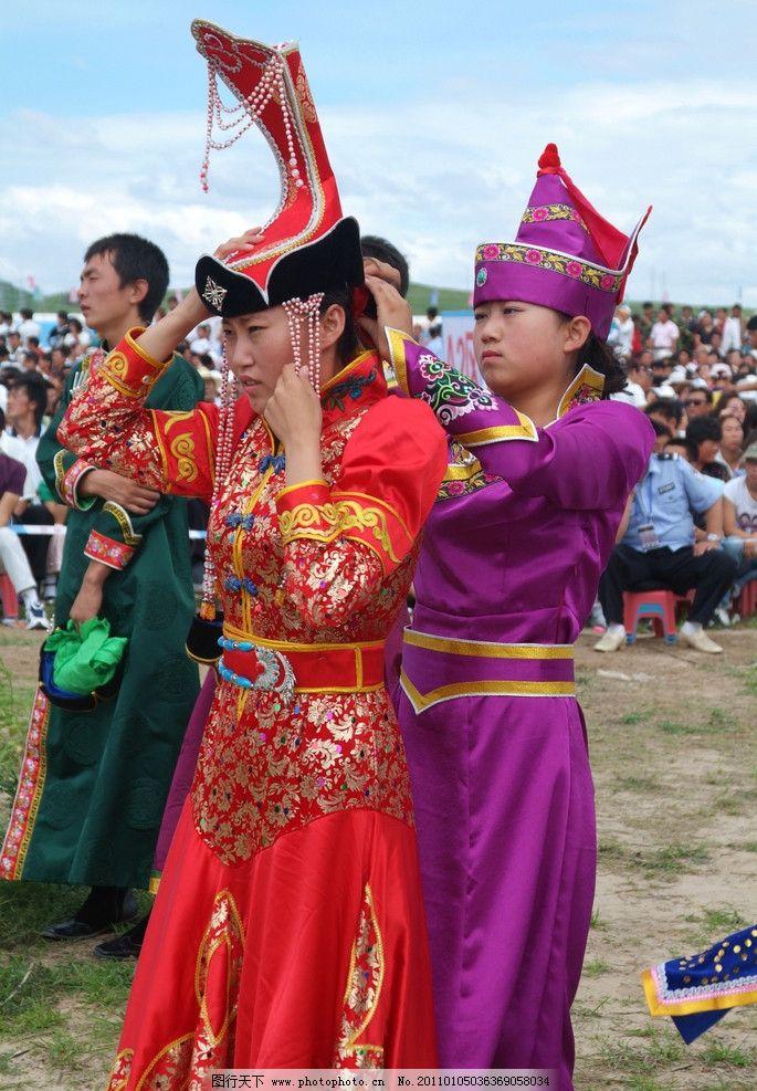 蒙古族服饰 蒙古族 服饰 少女 蒙古袍 演出 传统服饰 古典 民族特色
