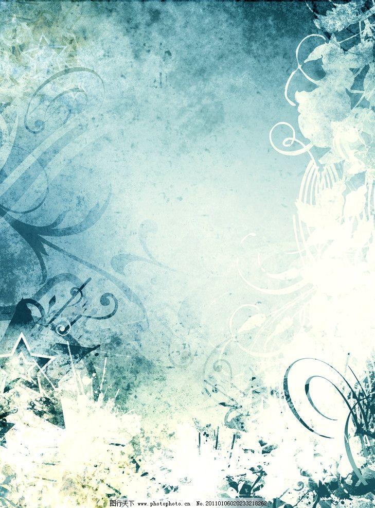 复古花纹背景图片