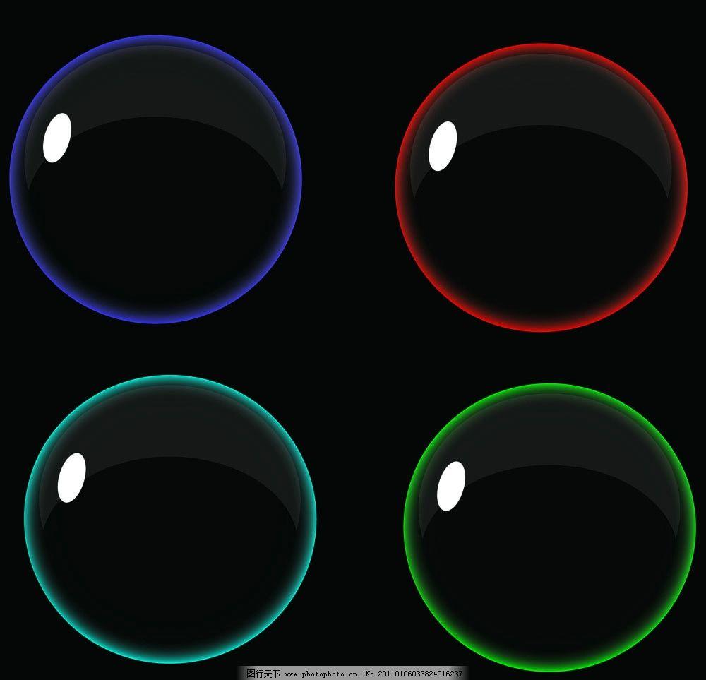 蓝气泡 红气泡 青气泡 绿气泡 逼真的好看气泡 矢量图 矢量素材 其他