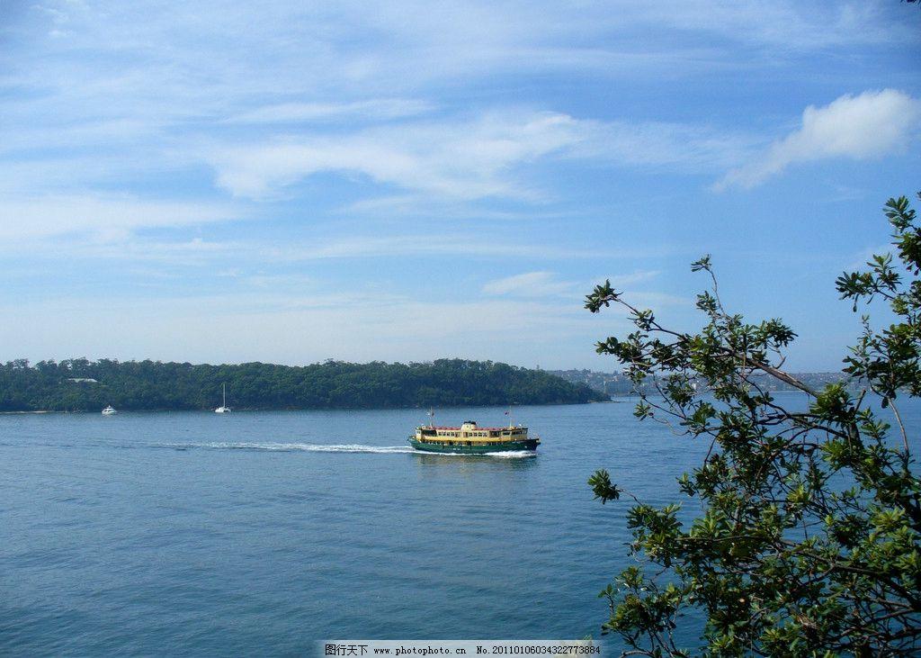 海景 大海风光 大海 自然 风光 游船 海边 蓝天 白云 摄影 风景 山水