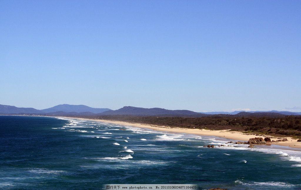 海滩风景 自然风光 自然风景 蓝天 白云 大海 海洋 沙滩 山水