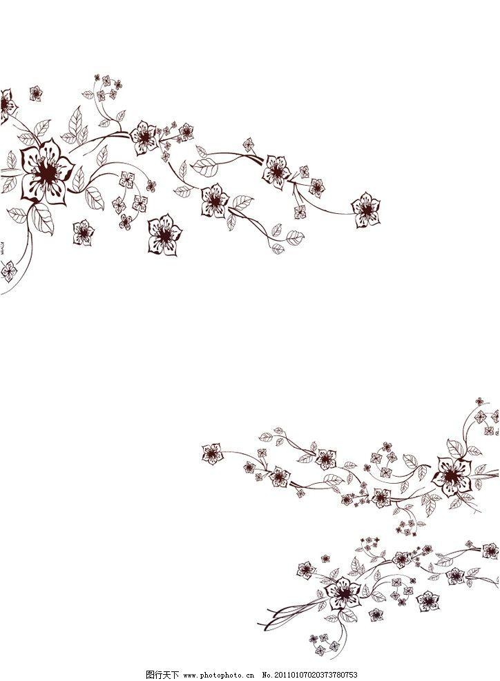 韩式花纹 纷飞世界 门 移门 韩式 花纹 白底 紫色 小花 花纹花边 底纹