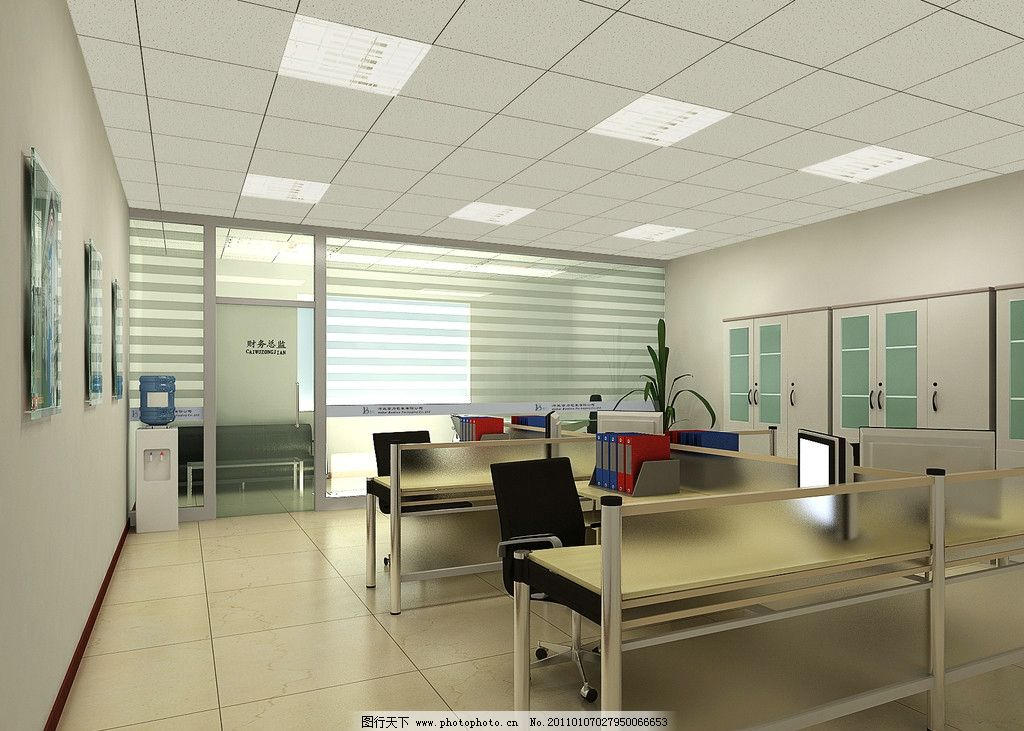 现代装潢 财务室 敞开办公室 室内设计 环境设计 设计 300dpi jpg