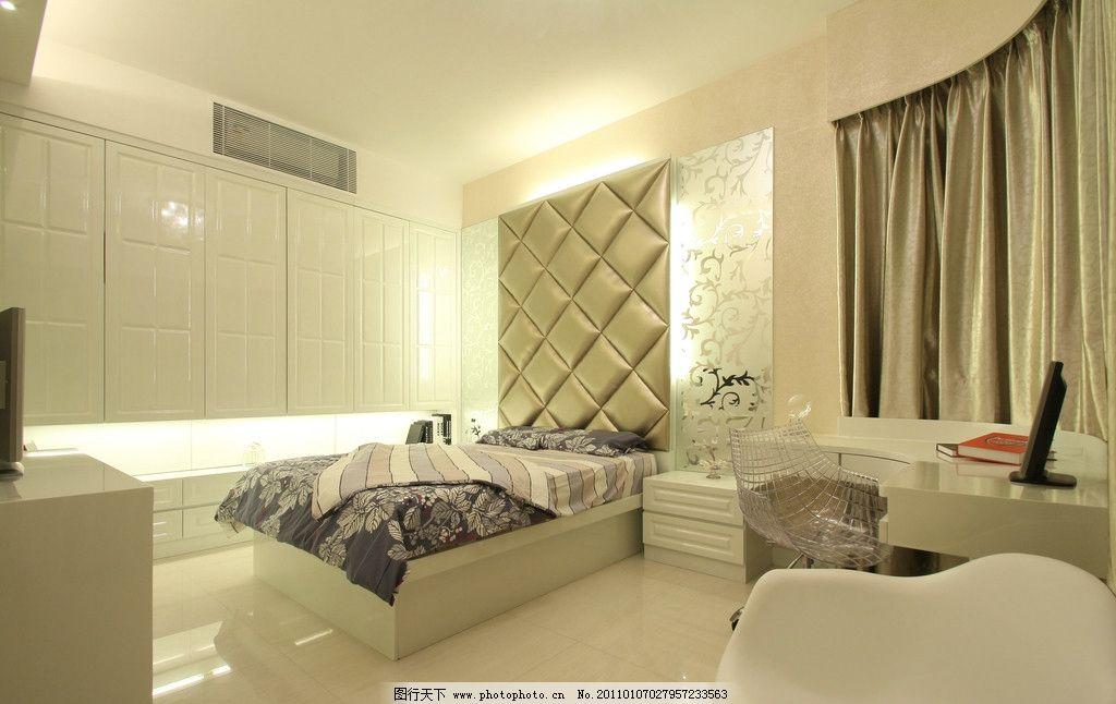 室内效果图 寝室 睡房 床 电脑 3d设计 室内设计 创意设计 灯光设计