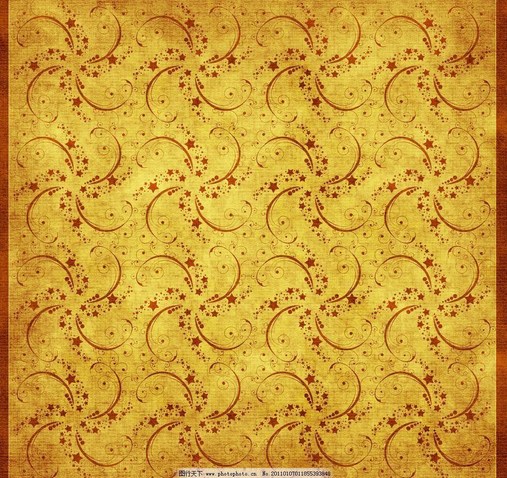 金黄色花纹背景 背景底纹 底纹边框 复古 古典风格背景 古典花纹背景