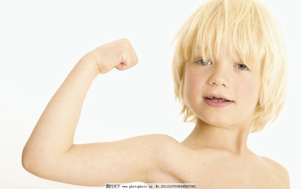 学健美运动员的小帅哥 小学生 孩子 儿童 可爱孩子 小男孩 微笑 健美
