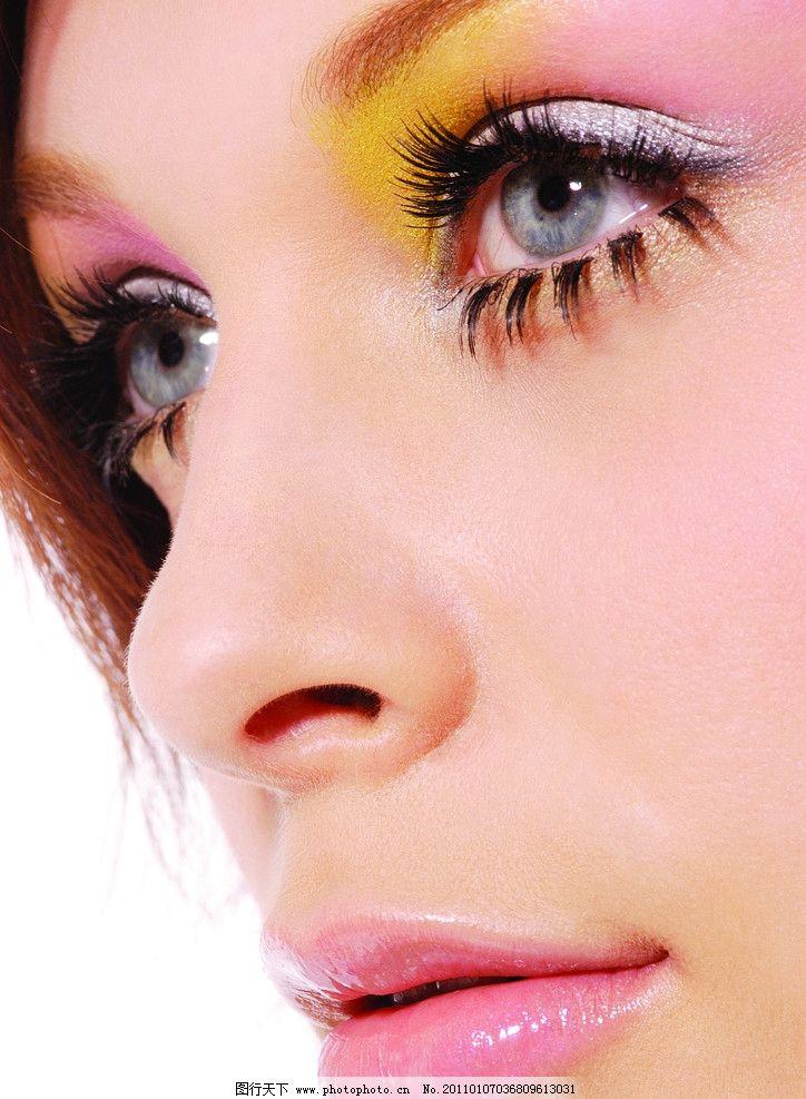 摄影图库 人物图库 女性女人  迷人明亮眼睛 眼睛 眼球 眼珠 眼影