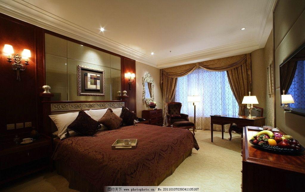 酒店卧室 酒店 室内设计 豪华酒店 欧式卧室 室 家具 床 装修 古典