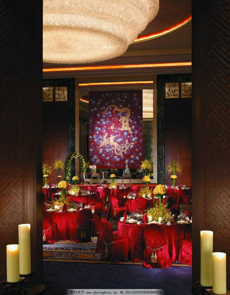 酒店宴会厅 酒店设计 五星级酒店 水晶灯 香格里拉酒店 背景墙设计