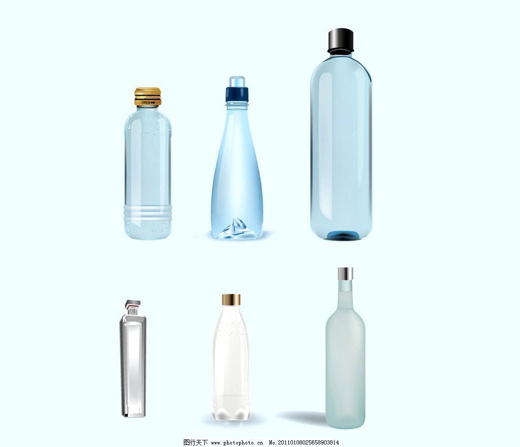 各种矢量手绘饮料瓶图片
