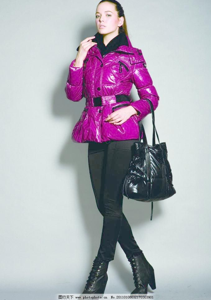 羽绒服模特图片素材下载 羽绒服模特 波司登羽绒服 2010品牌时尚羽绒