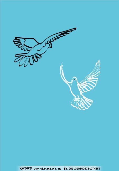 和平鸽设计免费下载 飞翔 飞翔的鸽子 飞翔 飞翔的鸽子 线条组成 矢量