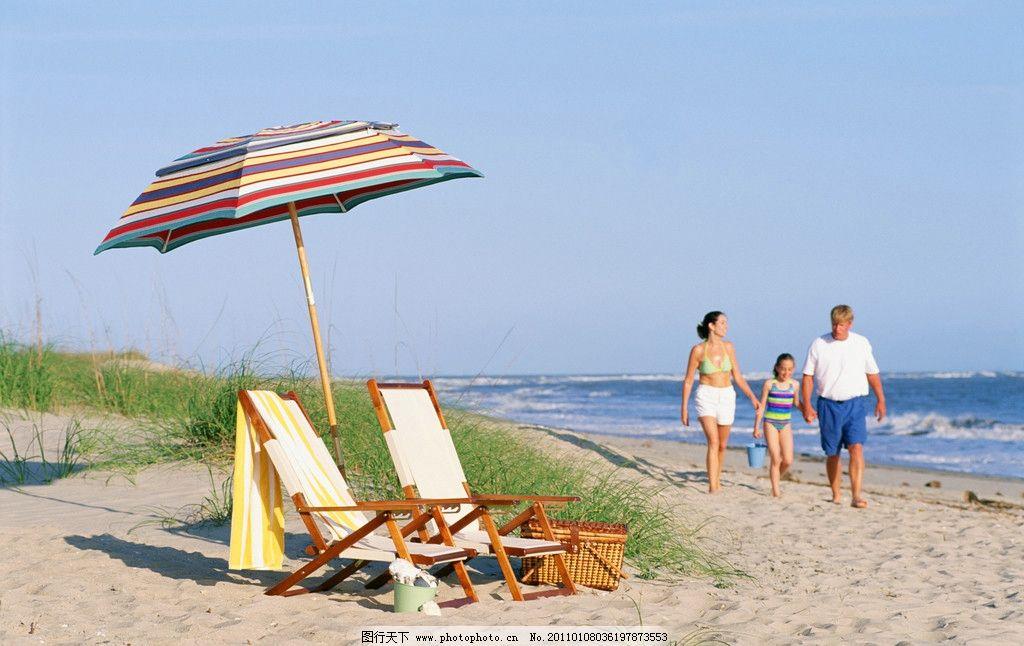 海边散步 海边度假 欢乐家庭 温馨一家人 快乐家庭 温馨家庭 和谐家庭