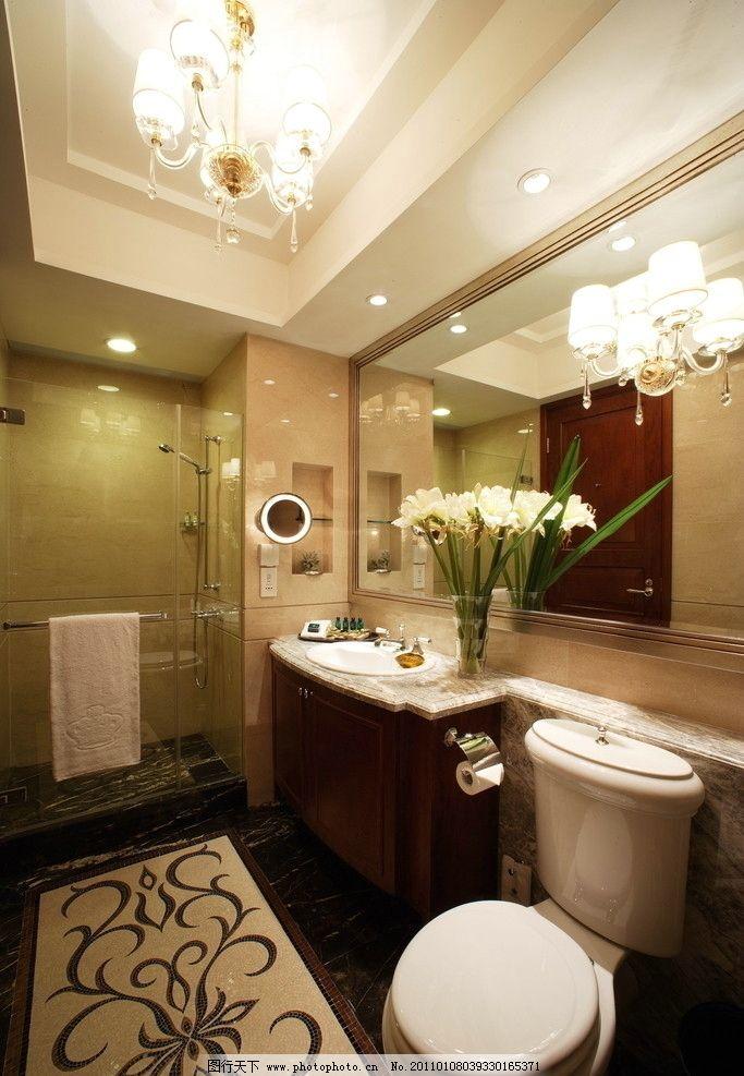 卫生间 浴室卫生间 瓷砖铺贴样板间铺砖 建筑 室内 欧式 酒店