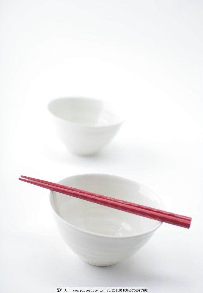 瓷碗和筷子图片