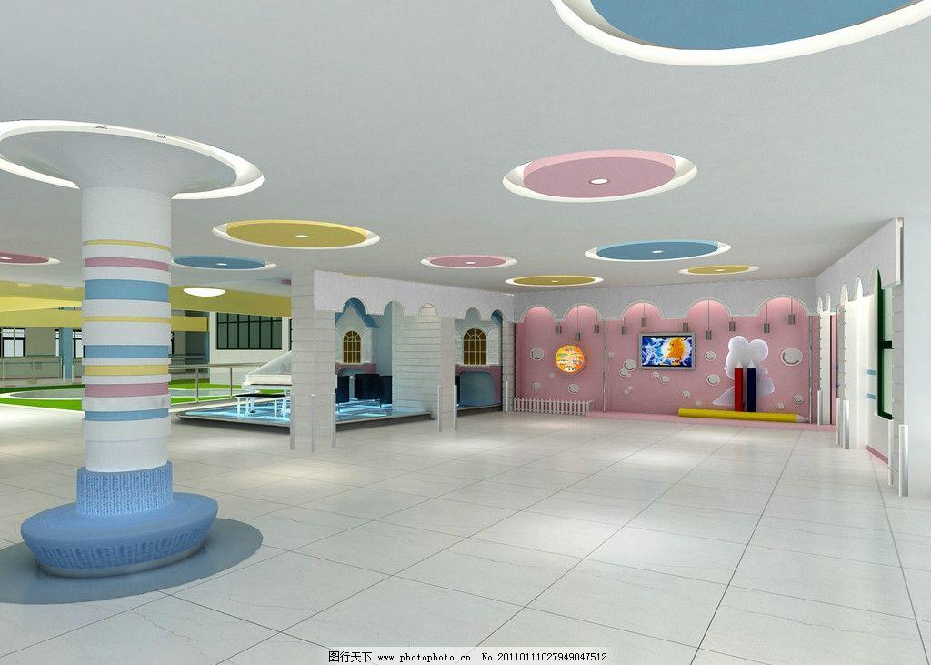大厅效果 小学 幼儿园 学校 大厅 效果        室内设计 环境设计