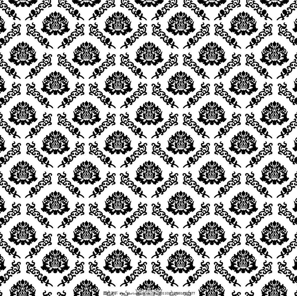 富贵花 背景 花纹 底纹 暗纹 规则 隔断 小花 移门 位图 黑白