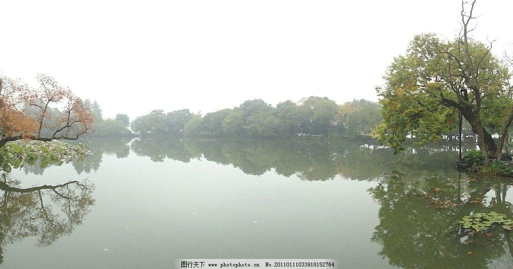 苏杭园林湖泊图片