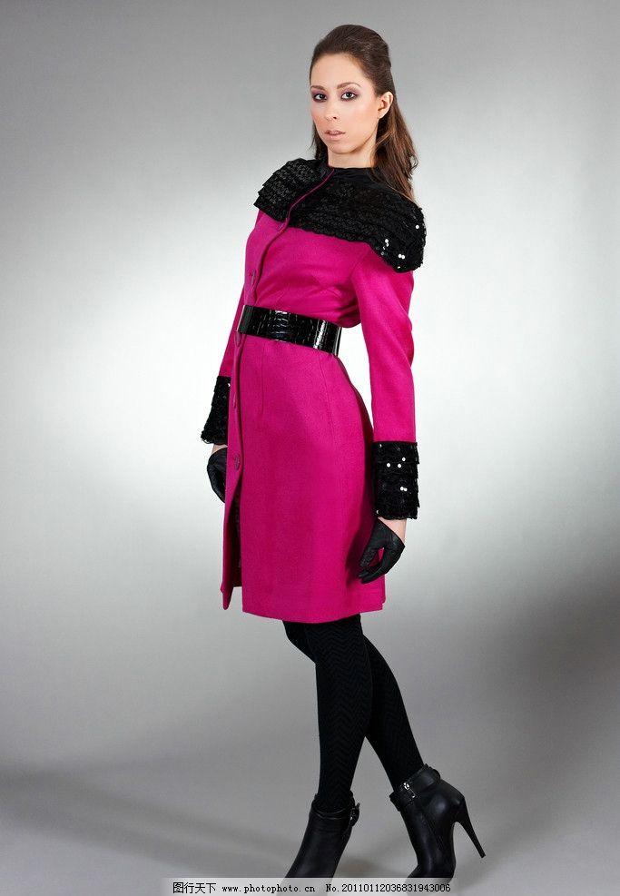 模特 服装模特 美女 外国美女 冬装 秋装 大衣 全身 服饰 女性女人
