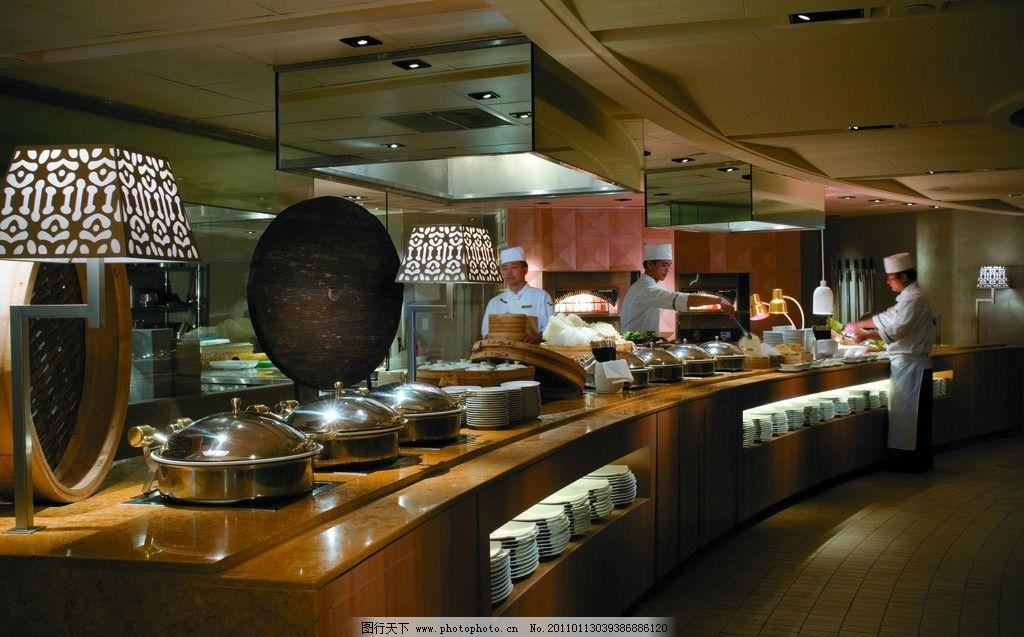 自助餐 酒店餐厅 酒店设计 五星级酒店 香格里拉酒店 上海 浦东 台灯