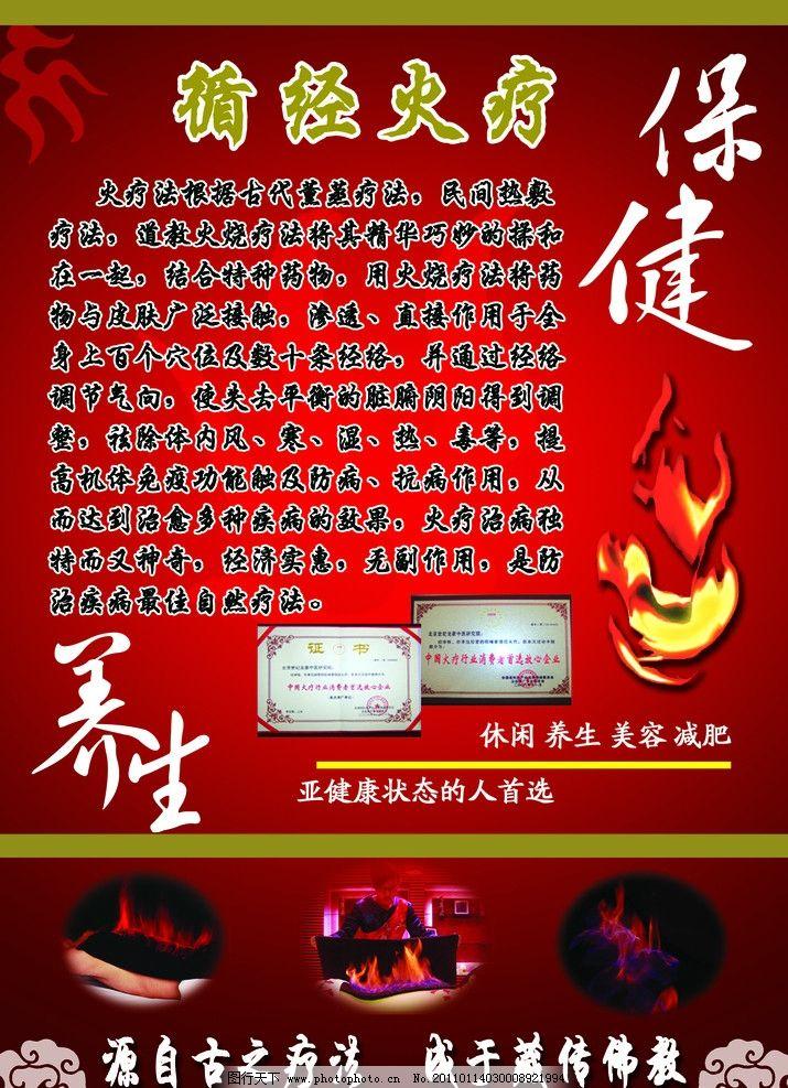 火疗展板 火疗 背景 花纹 展板 海报 效果 火图案      养生 保健