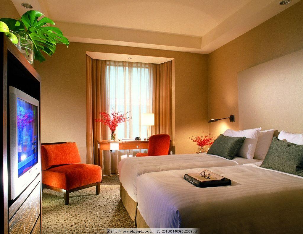 鲜花 样板房 软装设计 精装房 豪华客房 双人间 酒店夜景拍摄 标准间