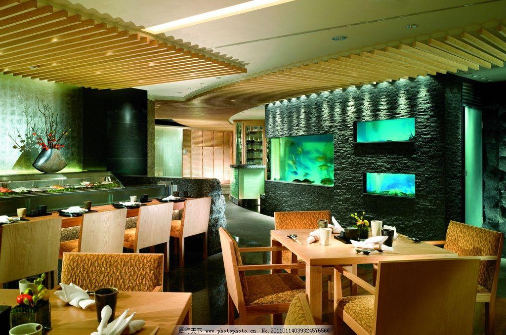 摆设 希尔顿酒店 酒店吧台 餐桌椅 餐厅 吧台设计 鲜花 花卉 鱼缸