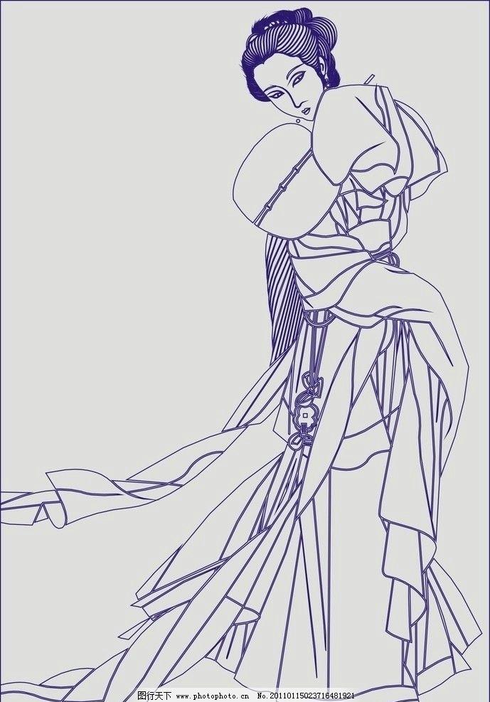 淑女时装设计手绘图片
