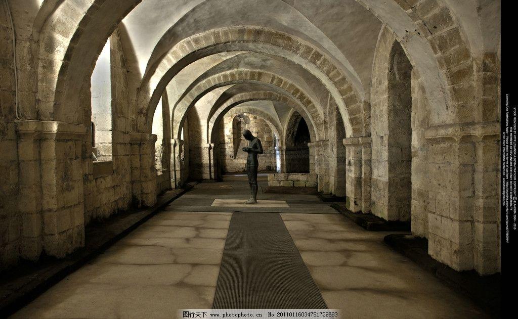 古堡走廊 风光摄影图片 建筑风光 古代建筑 古代城堡 城堡 古堡 走廊