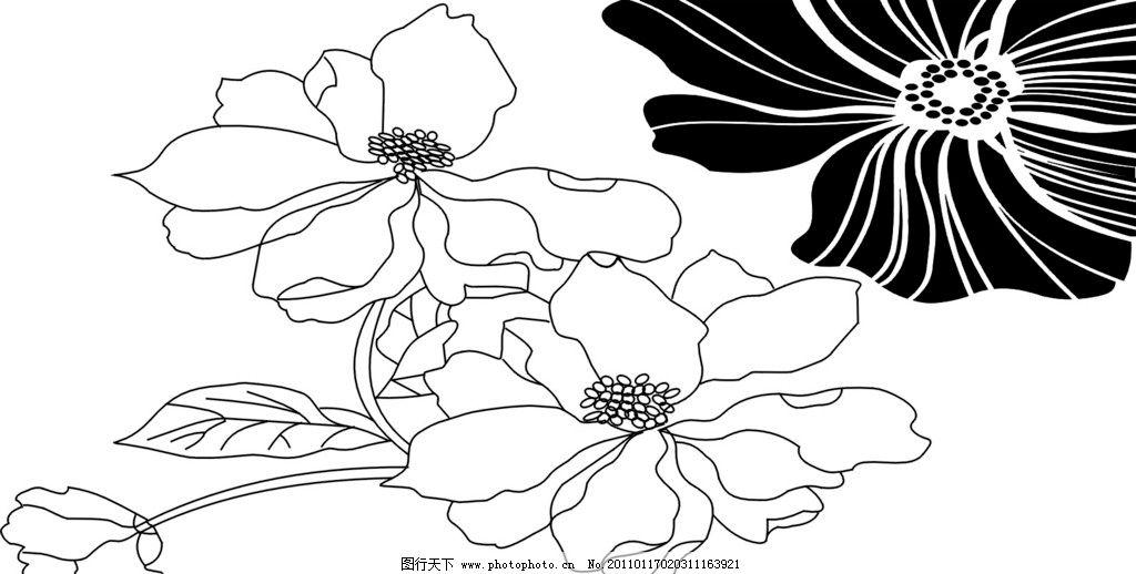 黑白手绘花边可爱