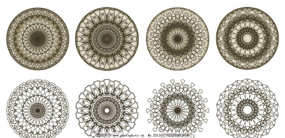 线条圈圈装饰花纹花边图片