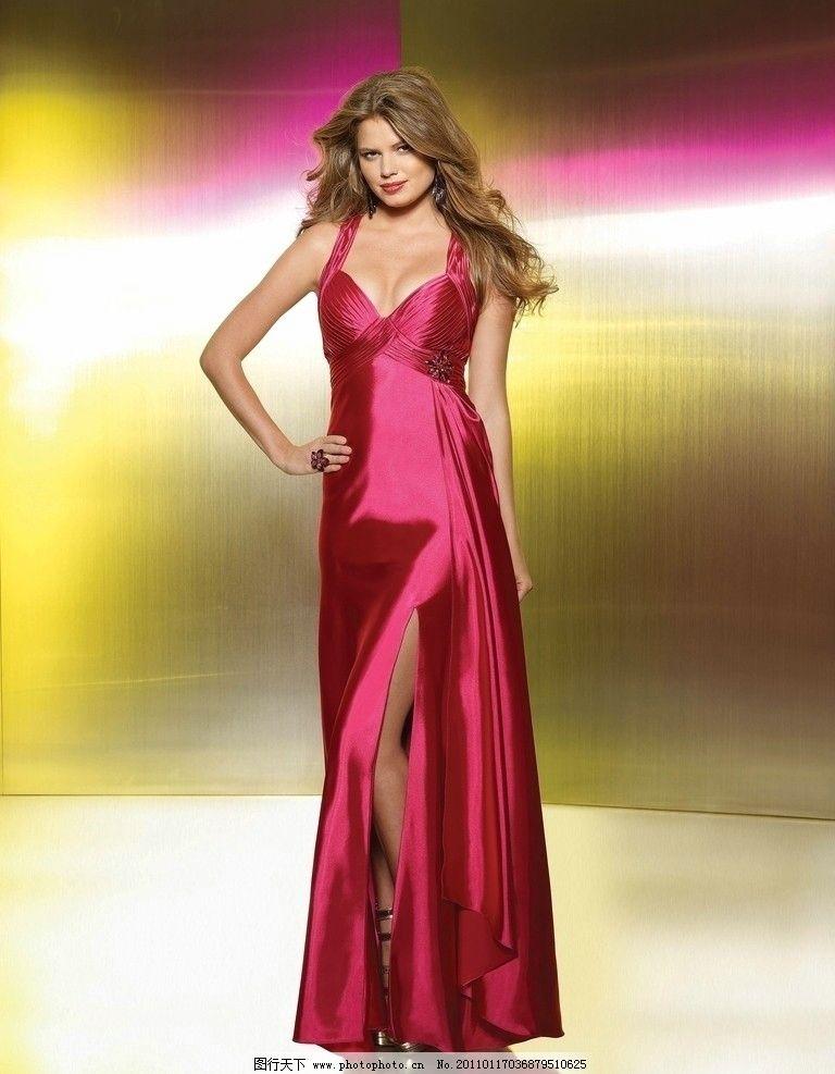 服装美女模特集锦 性感 丝绸 裙子 长裙 晚宴 礼服 婚纱 光华