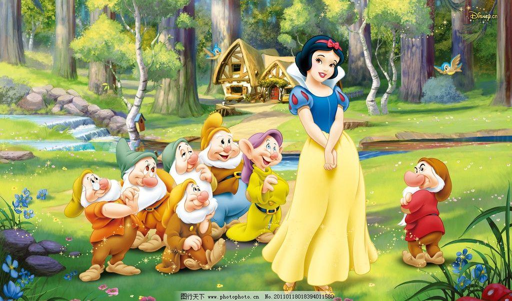 迪士尼公主 狄斯尼 米奇 卡通人物 桌布 动漫动画