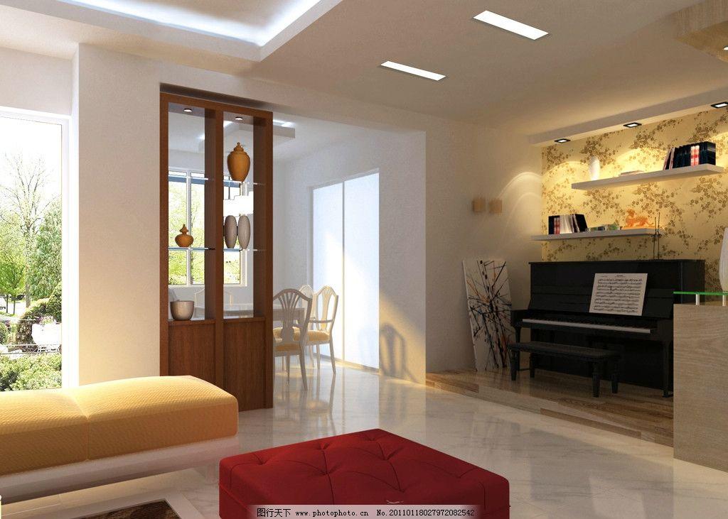 钢琴 室内设计 环境设计