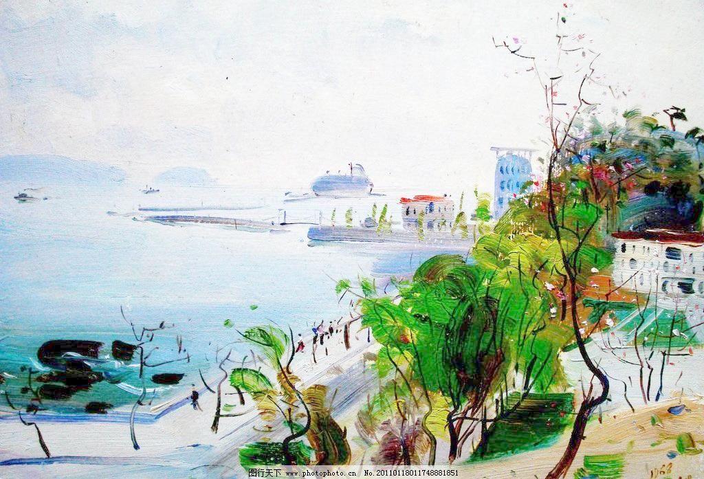 海滨风景图片_山水风景画_装饰素材_图行天下图库